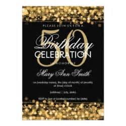 50th birthday invitations announcements zazzle