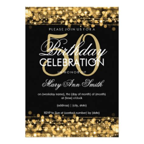50th Birthday Invitations by 50th Birthday Invitations Announcements Zazzle
