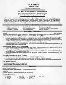 software engineer fresher resume sle mechanical engineer resume for fresher http www