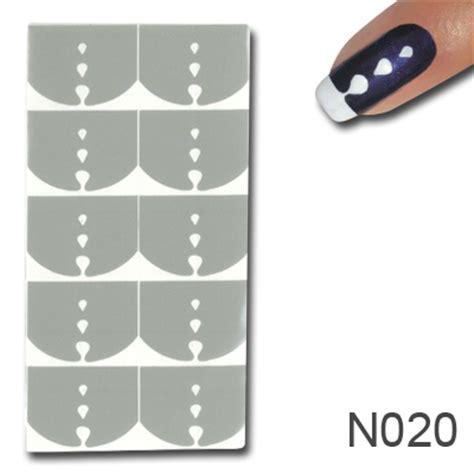 Nagel Zubehör by Nagellack Schablone Design 20 Nagellack Schablonen