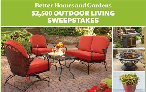 better homes and gardens 2500 outdoor living sweepstakes