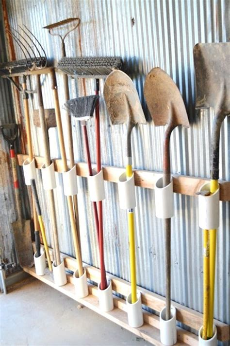 diy gardening tool storage garden tool rack garden tool