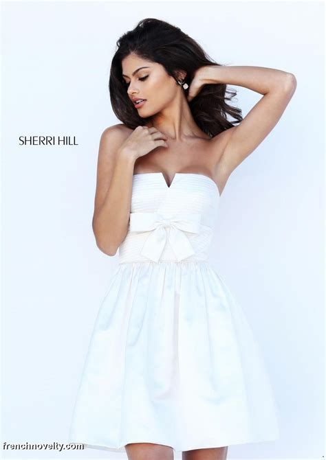 short hair sherri hill sherri hill 50547 a line short homecoming dress french
