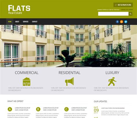 decorating websites for homes 25 free premium real estate html website templates