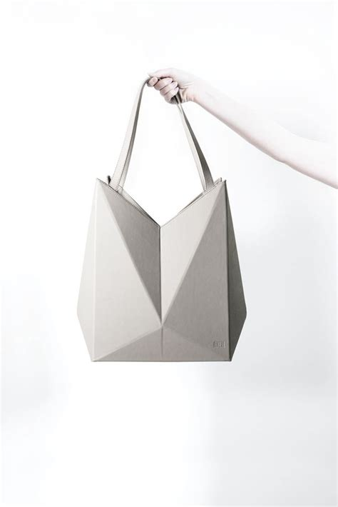 Origami Handbag - geometric handbag leather origami bag innovative