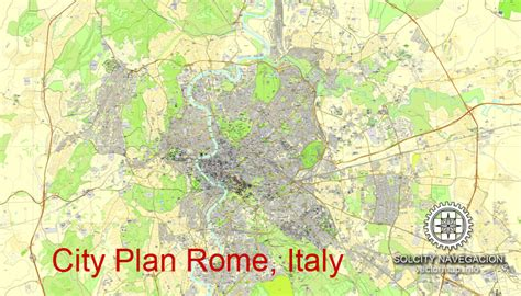 italy rome pdf free download rome italy printable city plan vector map mappa roma