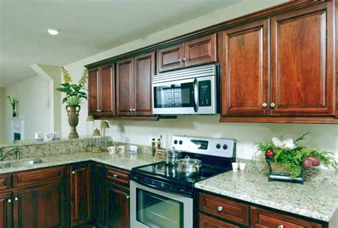 kitchen cabinets cherry finish medium walnut kitchen cabinets finish sle rta low