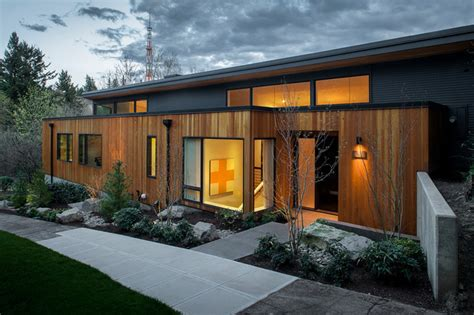 west remodel contemporary exterior portland