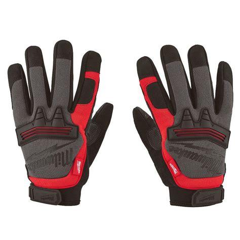 milwaukee medium demolition gloves 48 22 8731 the home depot