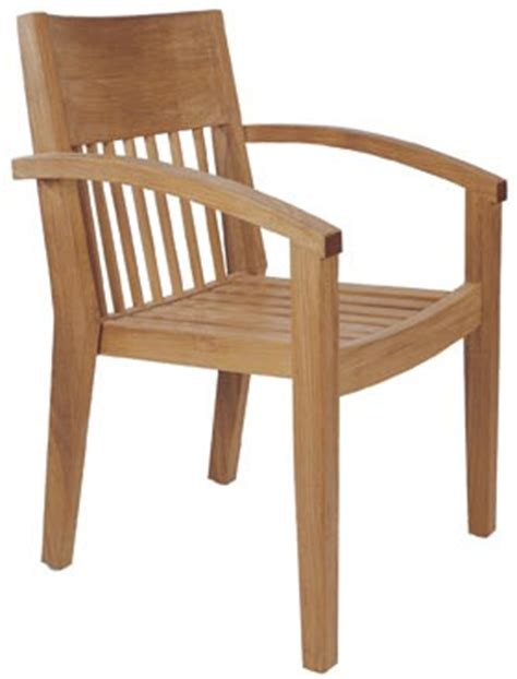 wooden dining chair with armrest wina stacking dining chair arm rest teak teka wooden