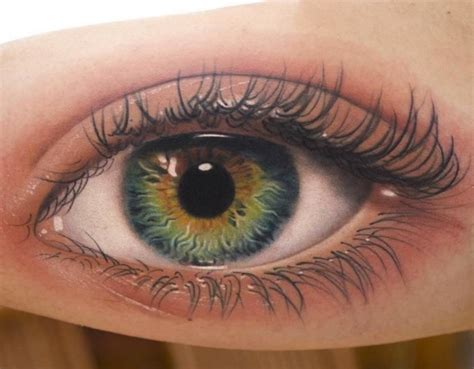 eye tattoo design read complete realistic eye on bicep by amayra