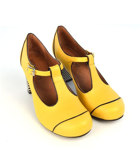 Of The Shoes by The Dusty In Yellow Retro T Bar Shoe By Modshoes