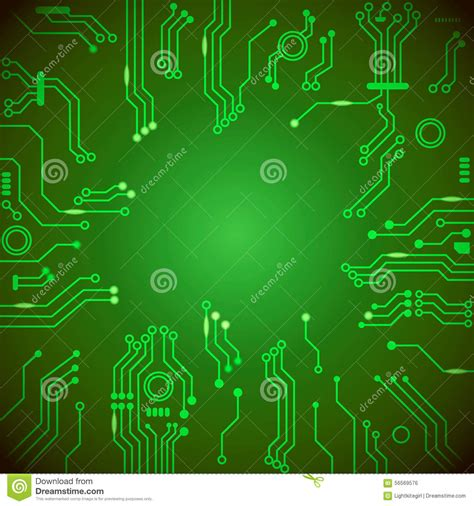 circuit board background protium design green board with electrical scheme royalty free stock