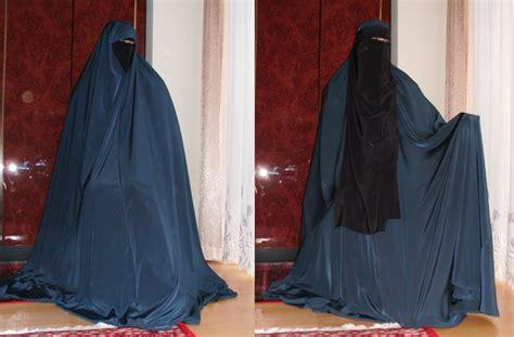 Khimar Arab blue khimar and niqaab islamic clothing blue and niqab