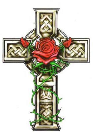 celtic cross with rose tattoo 46 celtic cross tattoos designs