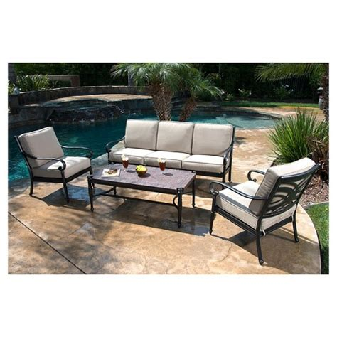 Patio Chair Set Of 4 by Kent 4 Metal Patio Conversation Furniture Set Target