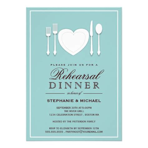 invitations for dinner place setting rehearsal dinner invitation 5 quot x 7