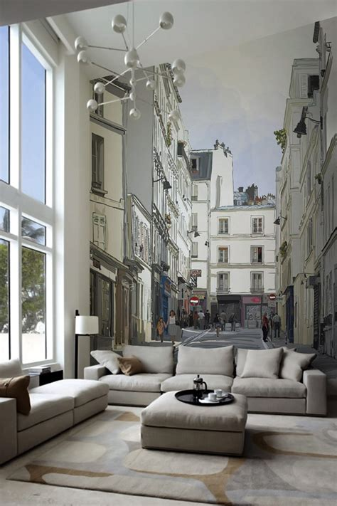 modern wall murals adding personality to modern interiors city never sleeps