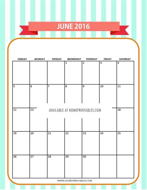 printable calendar 2016 beautiful cute free printable calendars for june 2016 home printables
