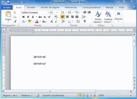 imagenes animadas word 2010 microsoft word 2010 subindice superindice inform 225 tica