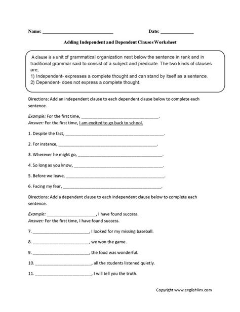 a closer look at minimus poem worksheet answers 17 best ideas about dependent clause on sentence clause structure sentences
