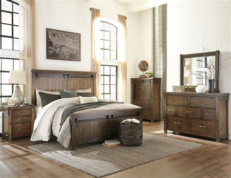 lakeleigh brown panel bedroom set  ashley coleman furniture
