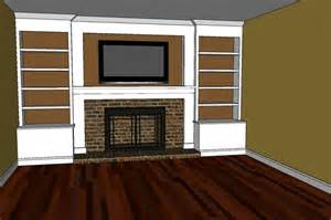 Building Bookshelves Around Fireplace Blueprints Building Bookshelves Around Fireplace