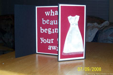 Handmade Card Blogs - how to make a handmade wedding card the cardmaking and