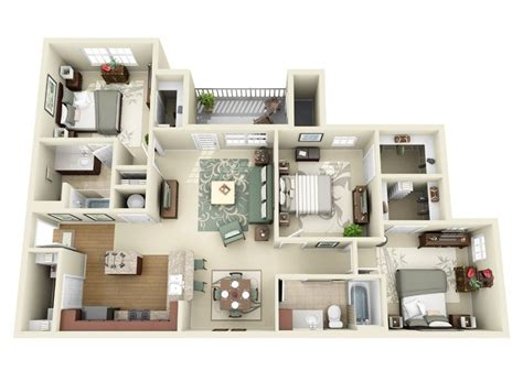 3 Bedroom Appartments by 3 Bedroom Apartment House Plans