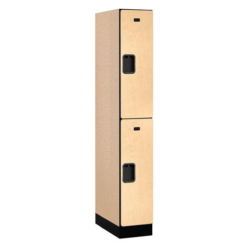 prepac elite 2 tier particle board locker in white wsls