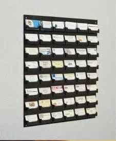 business card rack displays 48 pocket business card holder for wall w black acrylic