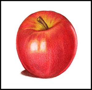colored apple learn to draw color with roseart colored pencils