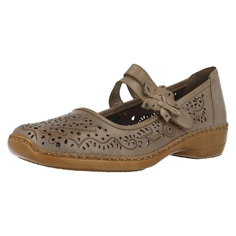 leather flat shoes rieker leather flat shoes 41372
