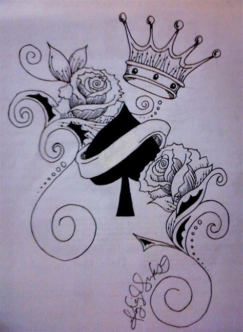 queen of spades tattoo designs tottoos on wrist with names for for