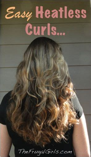 easy sock bun curls easy heatless curls and wavy hair from thefrugalgirls