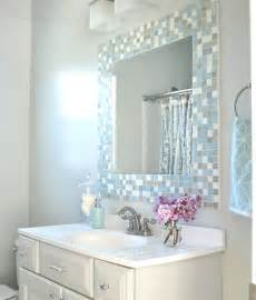 border around bathroom mirror diy mosaic tile bathroom mirror centsational