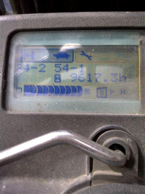 toyota forklift error codes toyota forklift fault codes