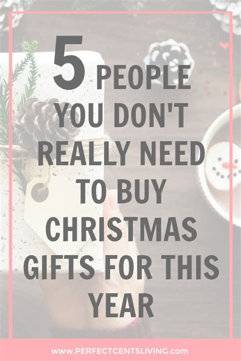 christmas gifts on a budget 5 people you don t really