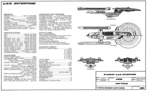 star trek uss enterprise d schematics image gallery enterprise specs