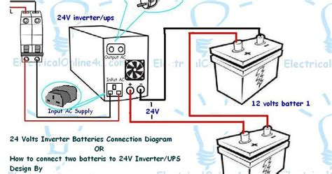 3 phase ups battery connection diagram how to connect two batteries to inverter 24 volts ups 2