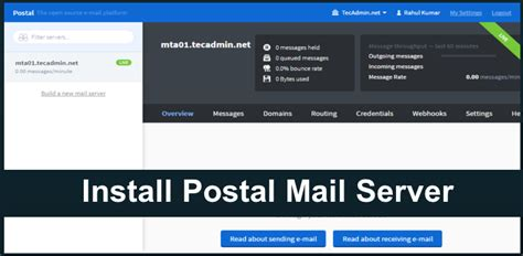 tutorial linux mail server how to install postal mail server on ubuntu 16 04 14 04
