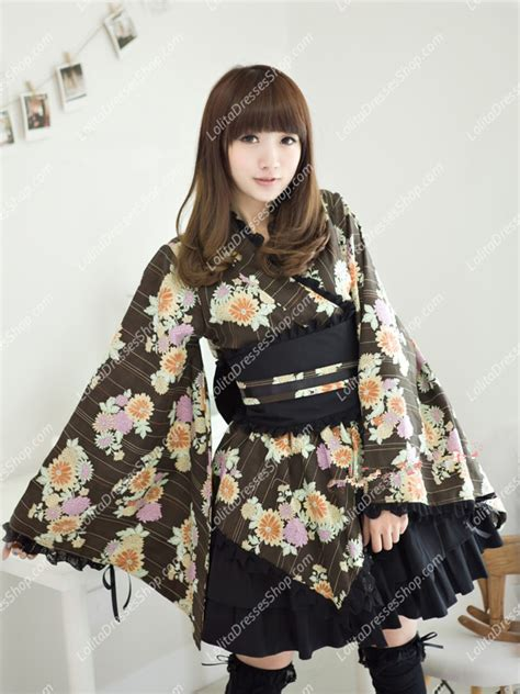 L 799 Adorable 2 Colours Kimono Best Seller cheap light printing kimono sale at dresses shop