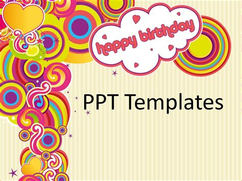 4 Birthday Card Template Free Teknoswitch Birthday Card Powerpoint Template