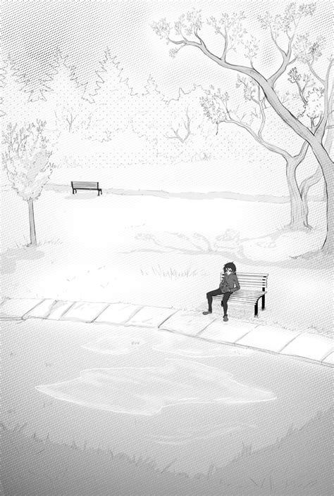 bench manga sitting on a bench by darkhalo4321 on deviantart