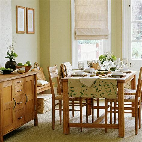 Dining Room Ideas With Oak Furniture Dining Room With Solid Oak Furniture Ideal Home