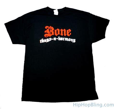 Tshirt Kaos Bone Thugs N Harmony bone thugs n harmony white logo black t shirt bone