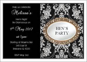hens night invitations template printable templates free