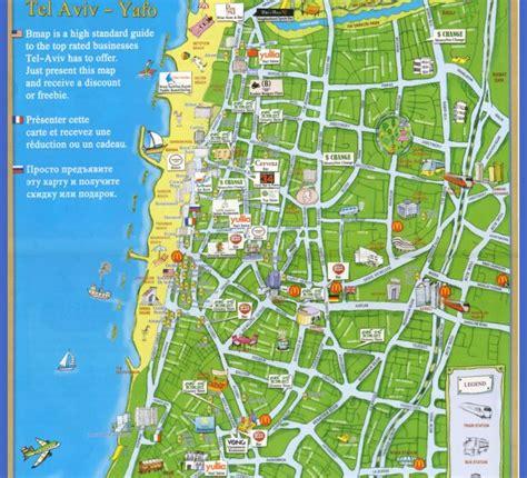 tel aviv map tel aviv map map travel vacations
