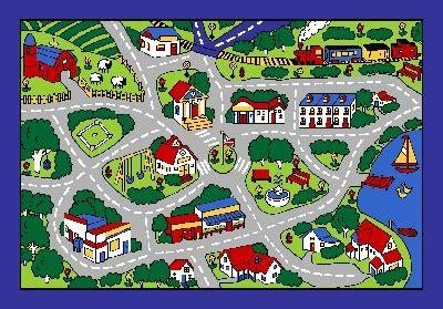 car map rug map grey school classroom car play large area rug 4 children 8 x 11