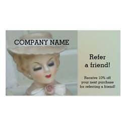 refer a friend business cards vintage refer a friend business card zazzle